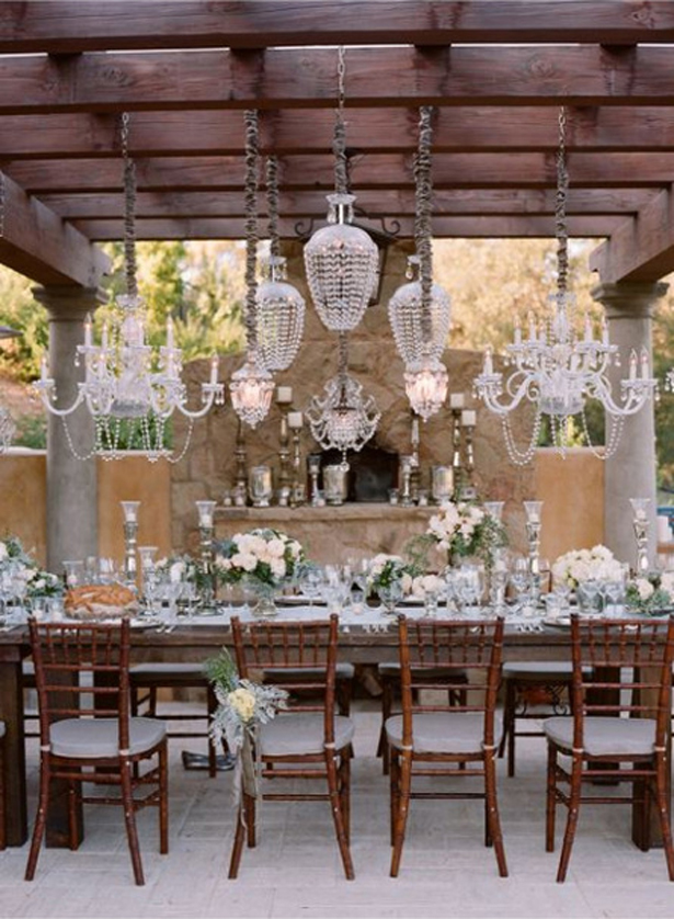chandeliers wedding