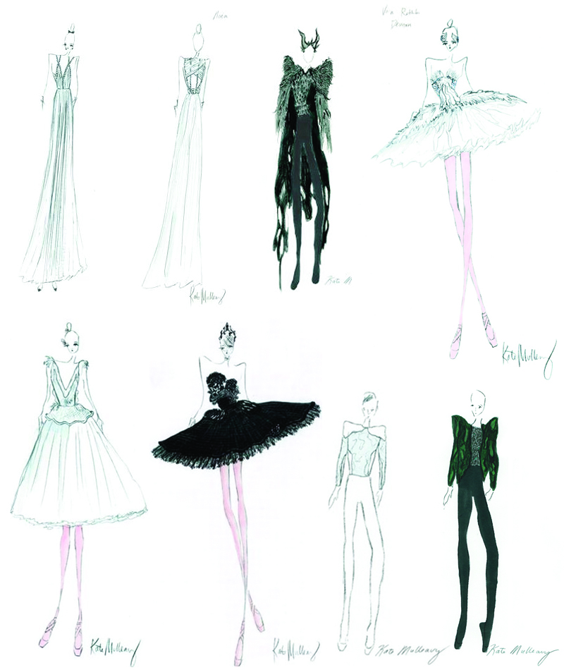 natalie portman black swan white dress rodarte. Rodarte#39;s original sketches on